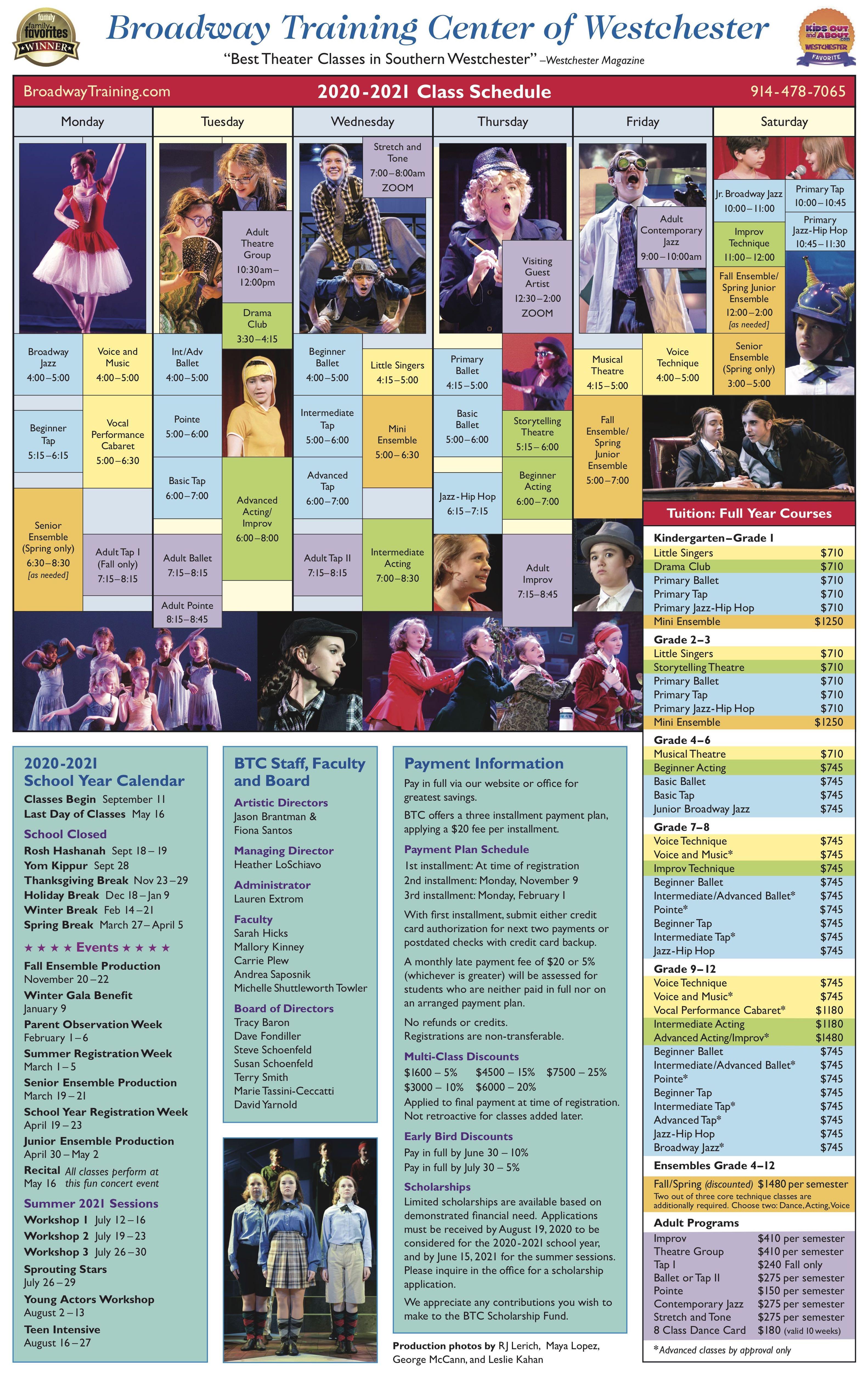 Class Schedule 20-21