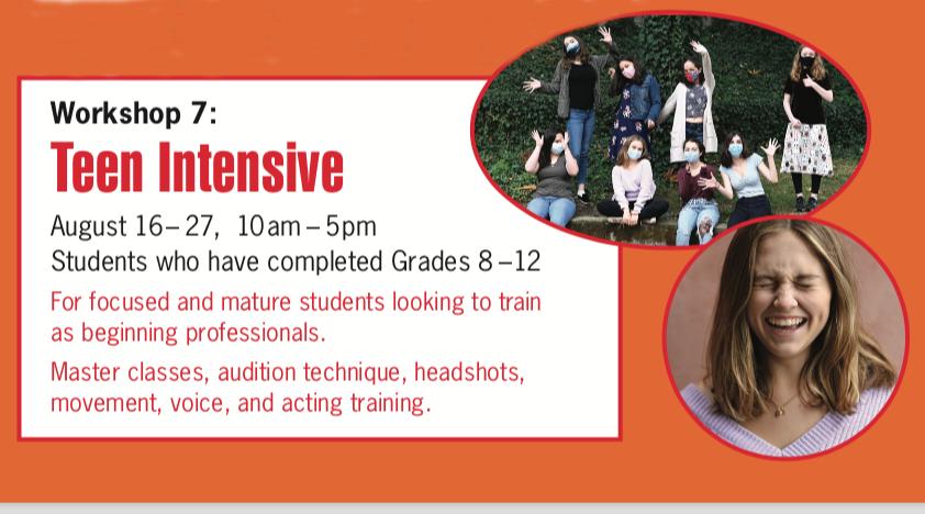 Summer 2021 - Teen Intensive