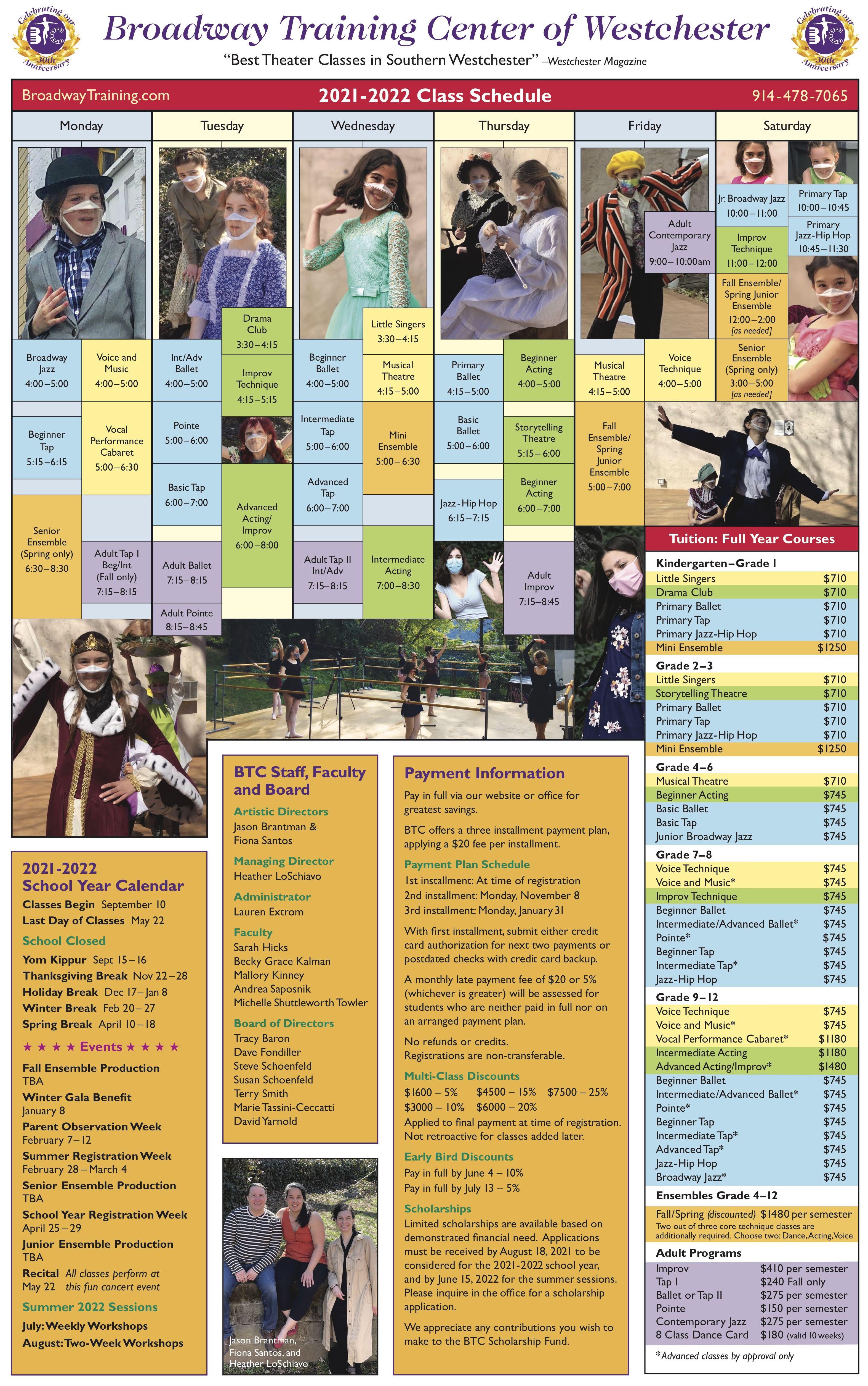 Class Schedule 21-22